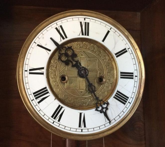 гиревые часы Gustav Becker