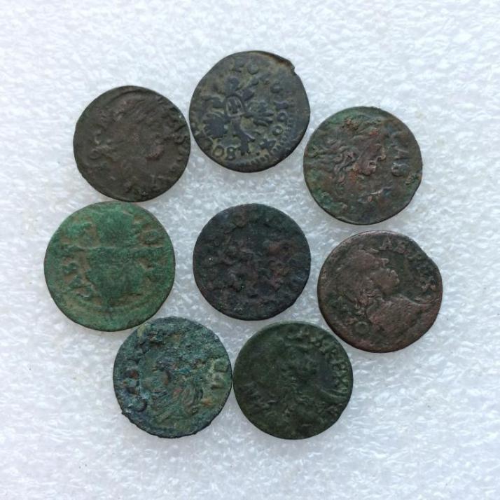 Комплект средневековых монет боратинок - 8 шт № 30