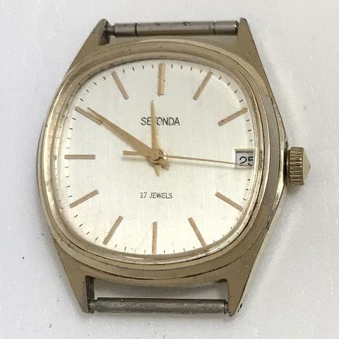 Мужские наручные часы Seconda СССР 17 камней позолоченныеМужские наручные часы S