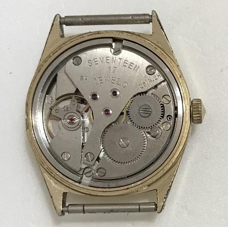 Мужские наручные часы Seconda СССР 21 камень позолоченные