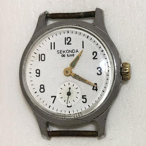 наручные часы Слава сделано в СССР 26 камней коричневые