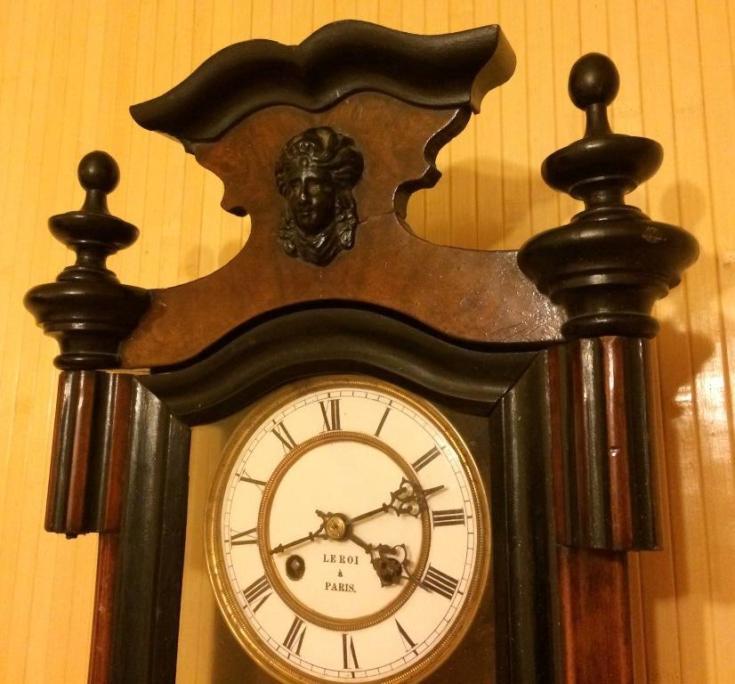 Старинные настенные немецкие часы вторая половина 19 века!