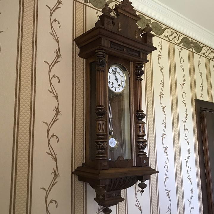 Старинные настенные часы Lenzkirch 1888 года!