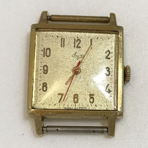 Мужские наручные часы Луч СССР позолота золотистый циферблат