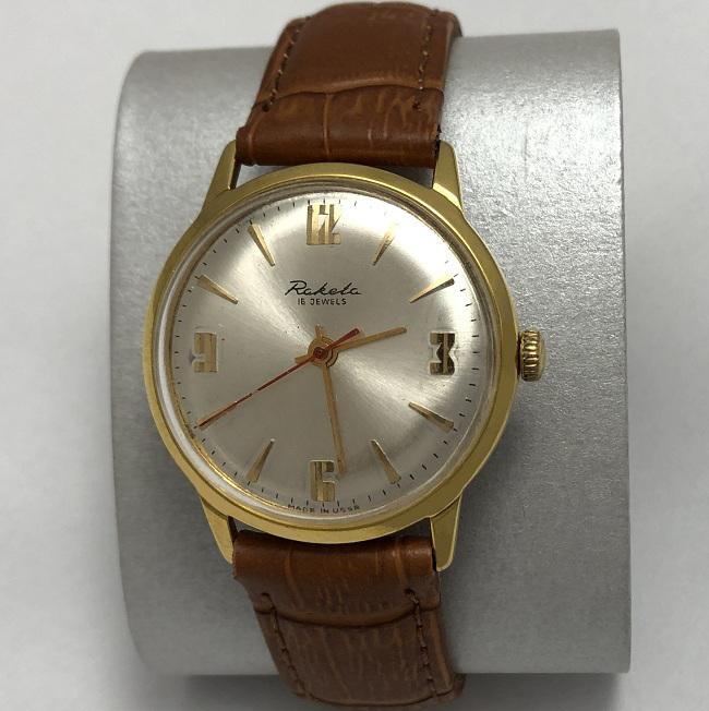 Мужские наручные часы Восток СССР редкие в позолоте