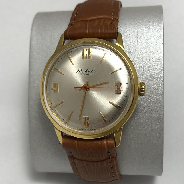 Наручные мужские часы Луч СССР позолоченные