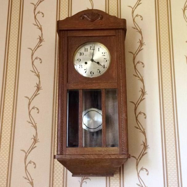 Старинные немецкие настенные часы с боем Mieg