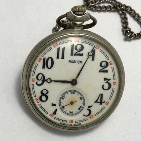 Карманные часы Молния байк