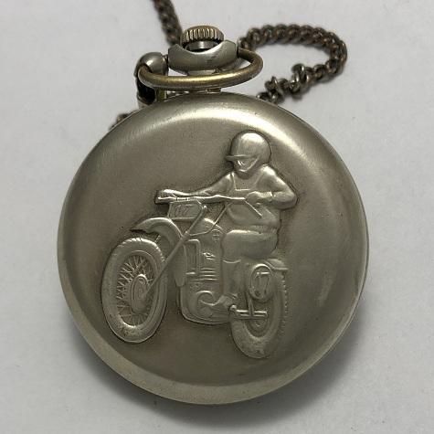 Карманные часы Молния мотоциклист