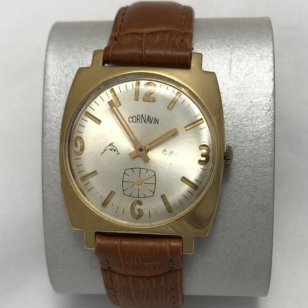 Мужские наручные часы Cornavin СССР позолоченные