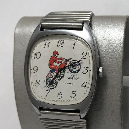 Наручные часы Чайка СССР механика мотокросс