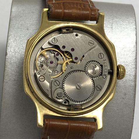 Мужские наручные часы Победа СССР позолоченные AU в полоску