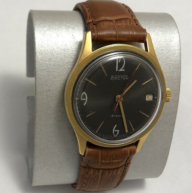 Мужские наручные часы Восток из СССР черные редкие