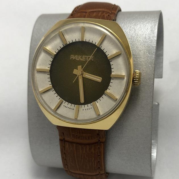 Мужские наручные часы Ракета из СССР 2609 НА в позолоте