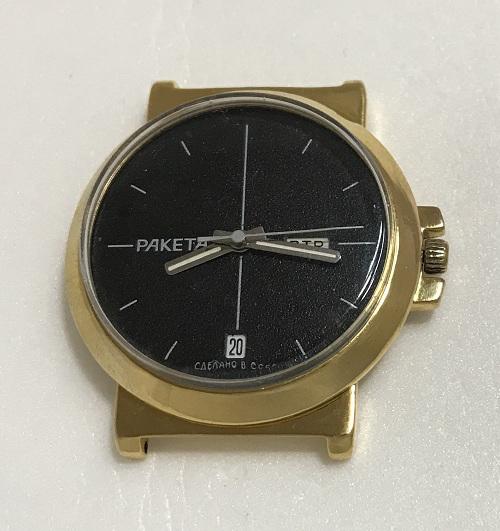 Мужские наручные часы Ракета два календаря черные