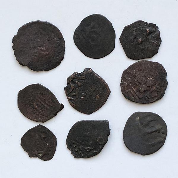 Комплект старинных татарских монет (таньга) № 12 - 4 штуки
