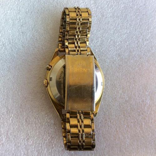 наручные Часы Orient 3 Stars crystal 21 jewels в желтом корпусе