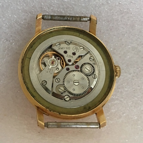 Мужские наручные часы Wostok USSR 18 Jewels позолоченные