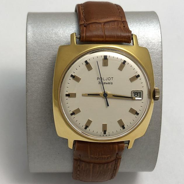 Мужские наручные часы Полет de luxe СССР 23 камня красные