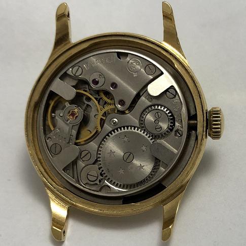Мужские наручные часы Кама СССР черные в позолоте
