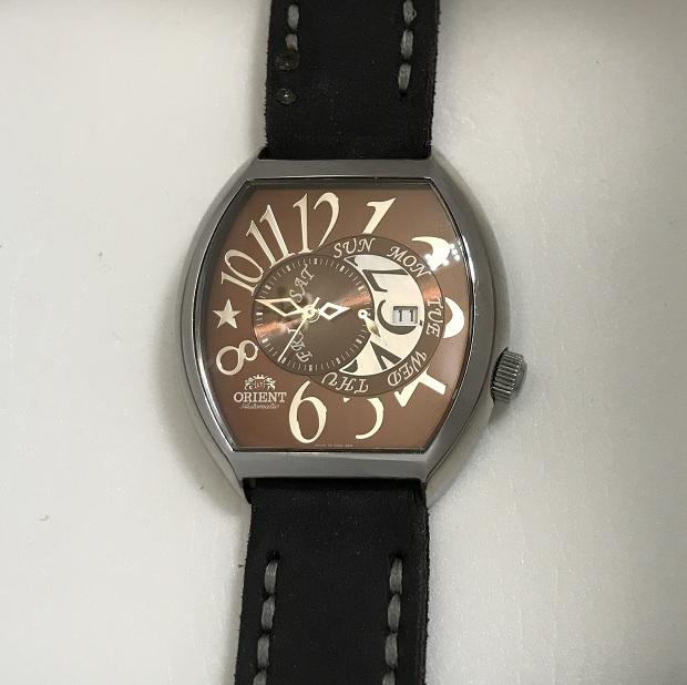 Мужские наручные Часы Orient коричневый циферблат