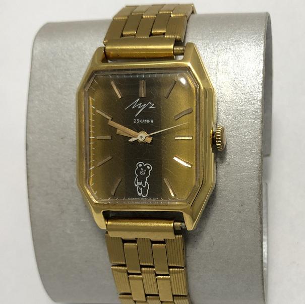 Мужские наручные часы Луч СССР олимпийский мишка