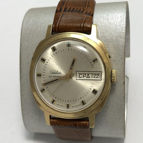 Мужские наручные часы Слава механические из СССР
