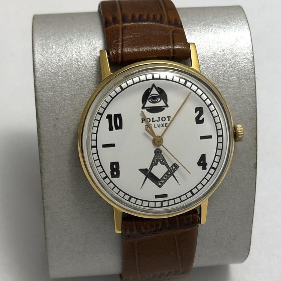 Мужские наручные часы Полет de luxe автомат СССР 29 камней