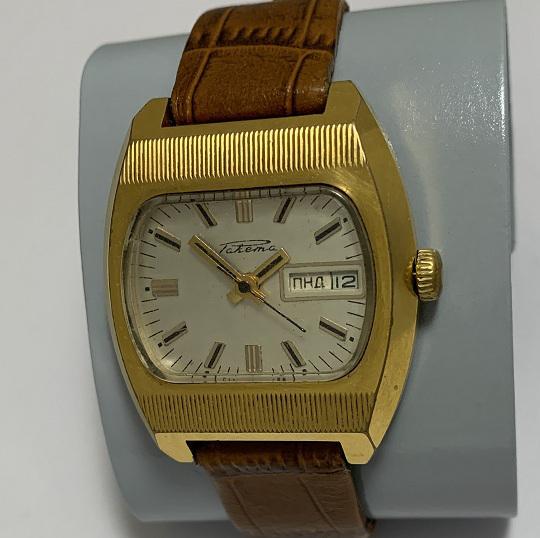 мужские часы Сигнал СССР 1 МЧЗ им Кирова в позолоте