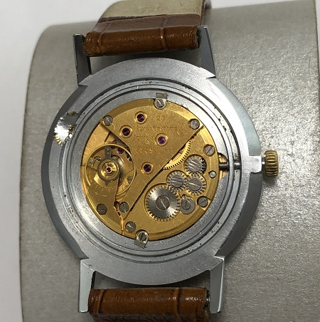 Мужские наручные часы Заря СССР в позолоте большие