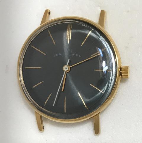 Мужские наручные часы Луч СССР 2209 черные тонкие