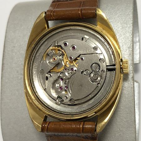 Мужские наручные часы Полет СССР позолоченные с ремешком