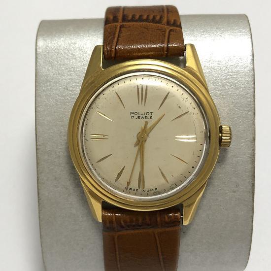 Мужские наручные часы Полет СССР 2414 позолоченные 17 камней