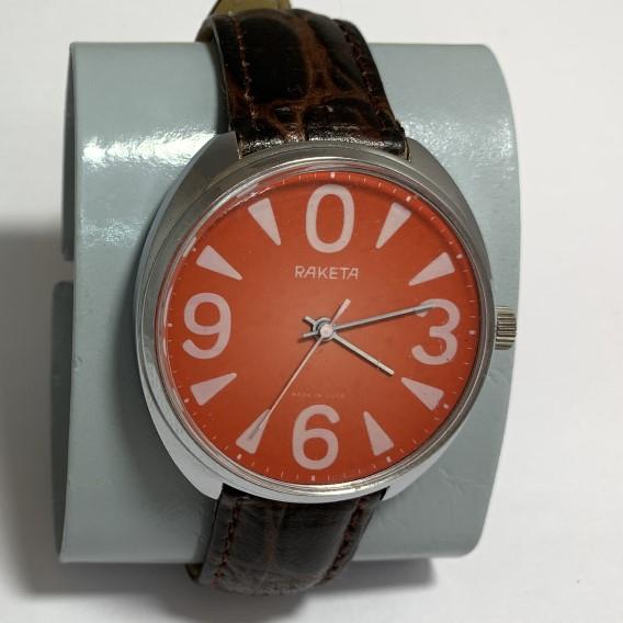 Мужские наручные часы Восток СССР серебристые позолоченные