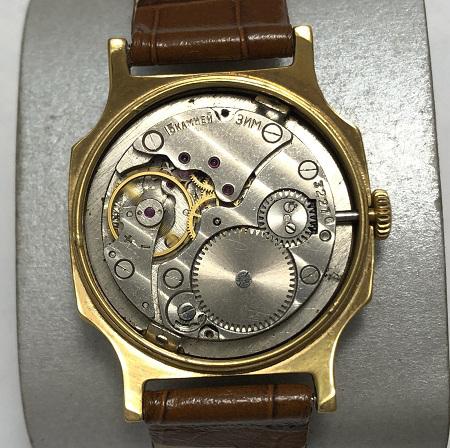 Мужские наручные часы Слава СССР розовые в позолоте большие