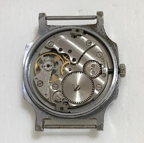 наручные часы Ракета 2614 Н СССР в позолоте квадратные