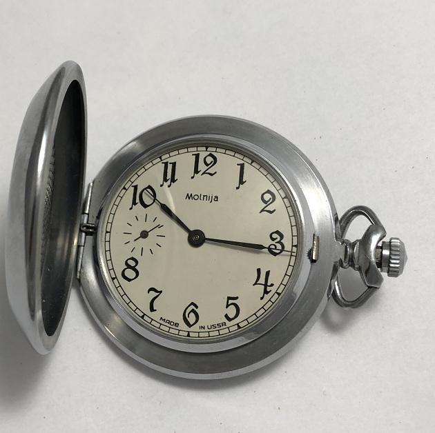 Карманные часы молния интересная модель