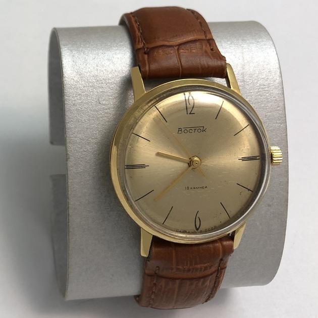 Мужские наручные советские часы Восток тонкие