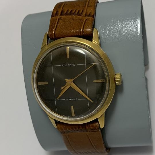 мужские часы Восток СССР бордовые позолоченные