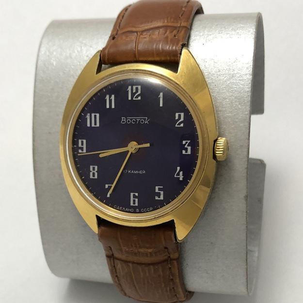 Мужские наручные часы СССР Восток синие