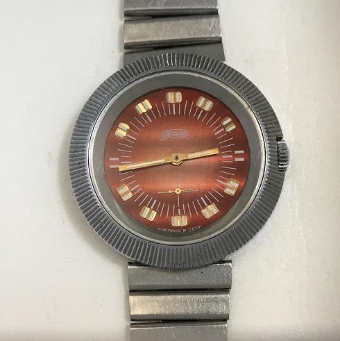 Мужские наручные часы ЗИМ СССР коричневые