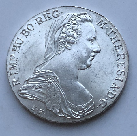Монета талер Австро-Венгрии