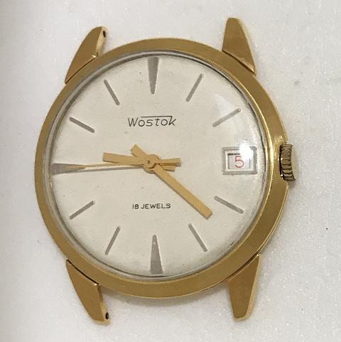 Мужские наручные часы Восток СССР механические в позолоте