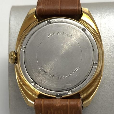 Мужские наручные часы Восток СССР позолоченные тесненый циферблат