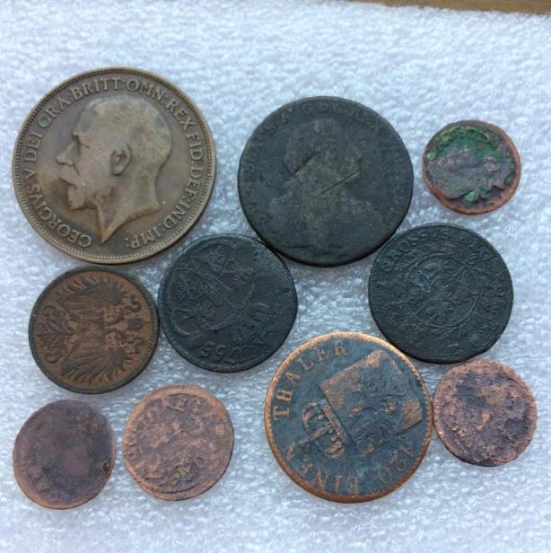Комплект старых европейских монет