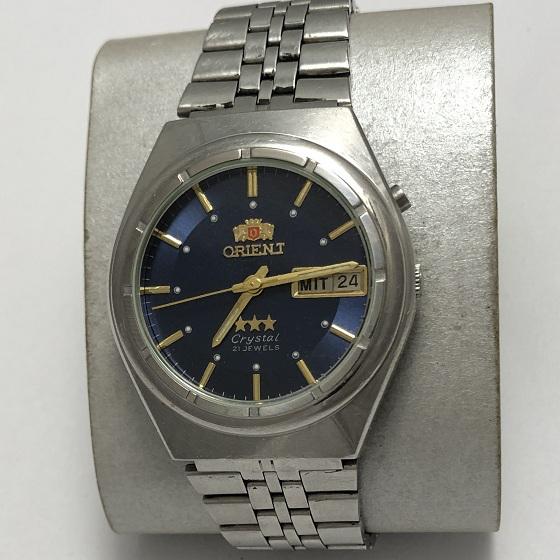 Мужские японские Часы Orient механика синие