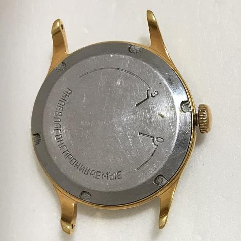 Мужские наручные часы Кама СССР бордовые в позолоте