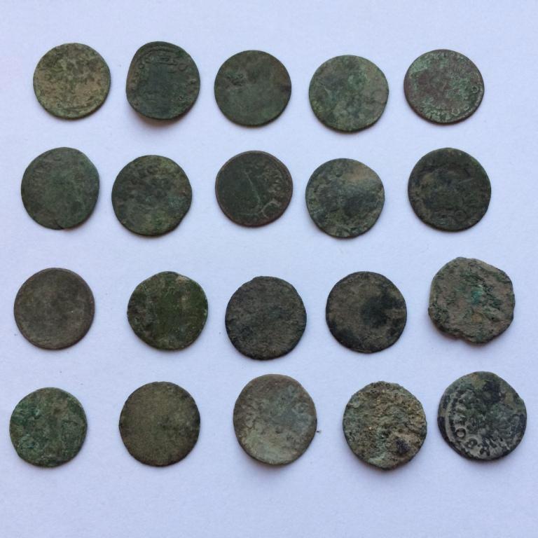 Комплект средневековых шелягов Казимира - 20 шт № 32