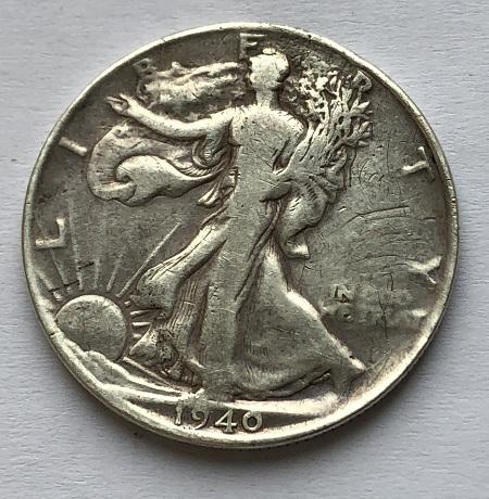 Монета полдоллара Шагающая Свобода серебро