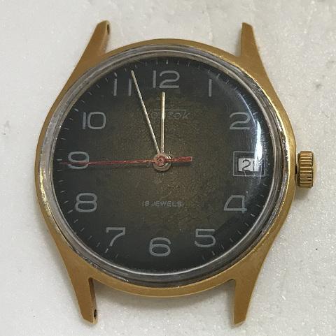 Мужские наручные часы cardinal 17 jewels СССР в позолоте